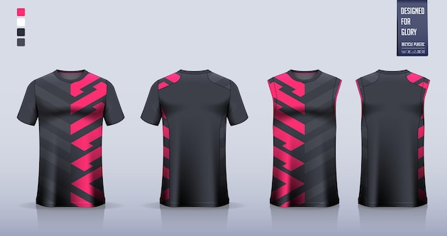 Disegno del modello mockup del kit da calcio per la maglia da calcio canotta per canotta da corsa in maglia da basket