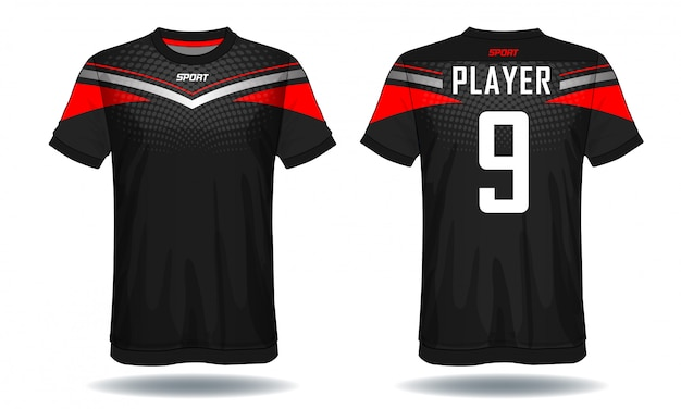 T-shirt sportiva in jersey di calcio