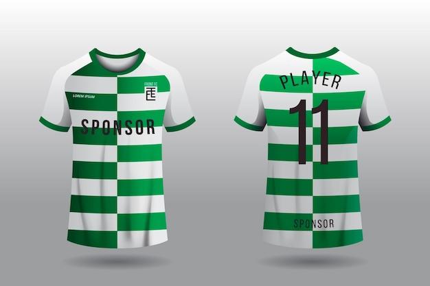 Concetto di t-shirt in jersey di calcio