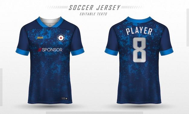 T-shirt sportiva da calcio modello jersey Vettore Premium
