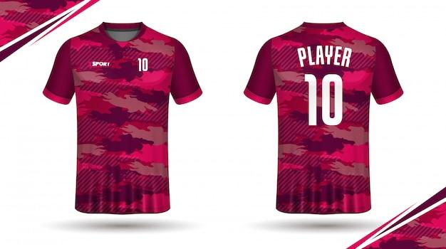 T-shirt sportiva modello maglia calcio
