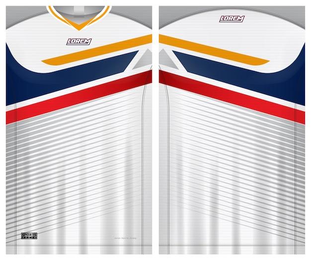 Maglia da calcio tshirt sport modello uniforme davanti e dietro