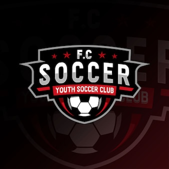 Modelli di calcio e-sport logo