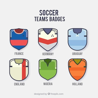 Calcio nazionale badge team