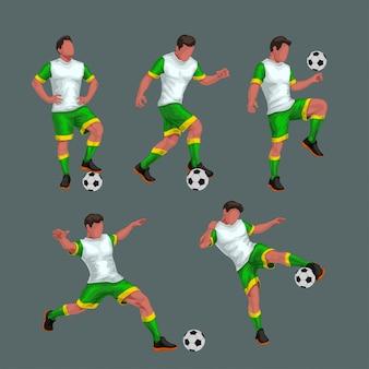Set di giocatori di calcio