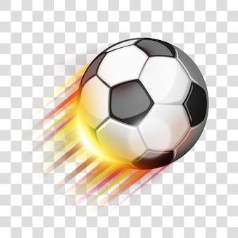 Pallone da calcio volante eps 10 sfumature modificabili con trasparenza facile da mettere sullo sfondo