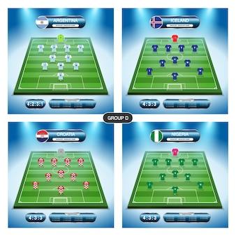 Piano del giocatore della squadra di calcio