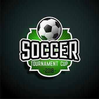 Segno di design di etichetta torneo di calcio