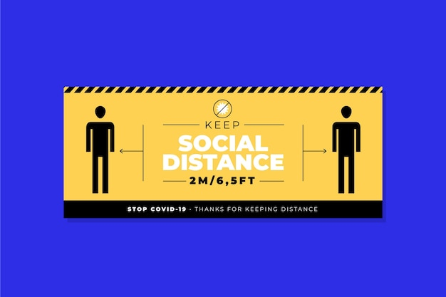 Banner di distanza sociale