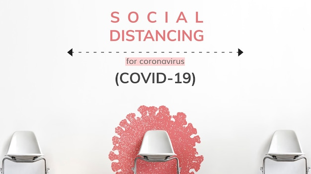 Distanziamento sociale durante il vettore del modello sociale della pandemia di coronavirus