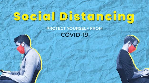 Distanziamento sociale per proteggere te stesso e gli altri dal covid-19