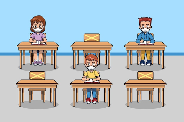 Distanziamento sociale nelle scuole