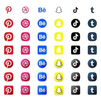 Set di icone sociali