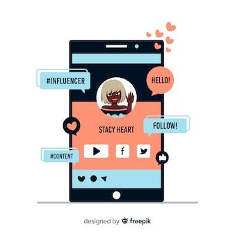 Marketing degli influencer sociali