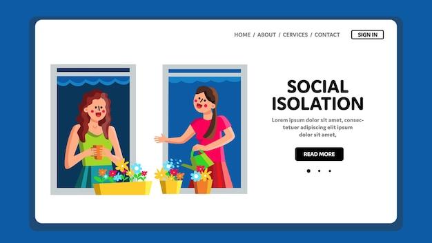 Isolamento sociale e distanza in quarantena