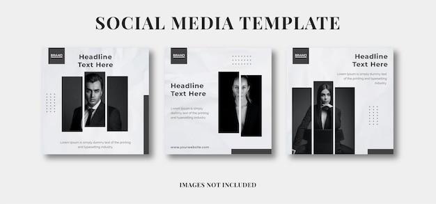 Banner modello di pubblicità sui social media