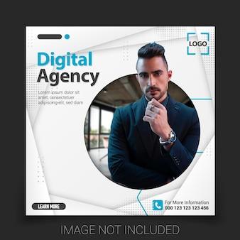 Modello di banner per social media design banner web promozionale per i social media illustrazione vettoriale