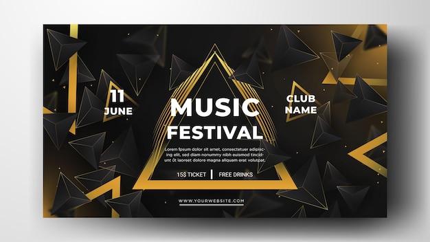 Festival musicale del modello di banner dei social media