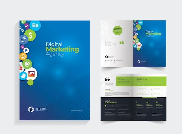 Brochure bifold sui social media