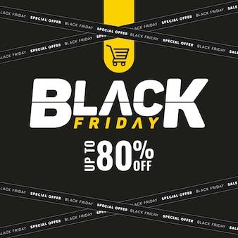 Modello di social media black friday con sconti fino a 50 per le vendite
