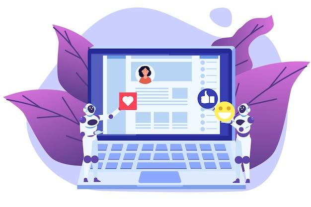 I bot dei social media hanno un metodo di automazione del concetto di account falsi per ottenere follower