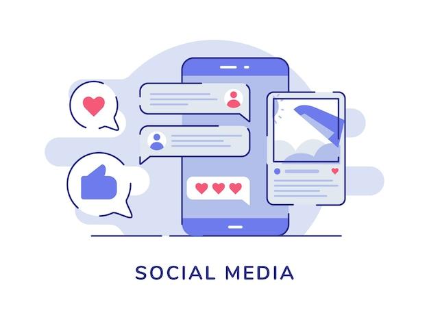 Immagine del concetto di social media post commento di feedback