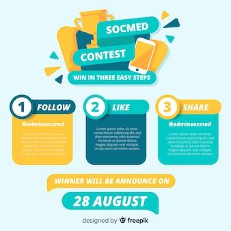 Pagina del concorso sui social media