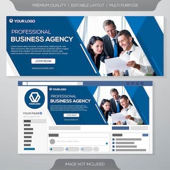 Modello di business copertina social media