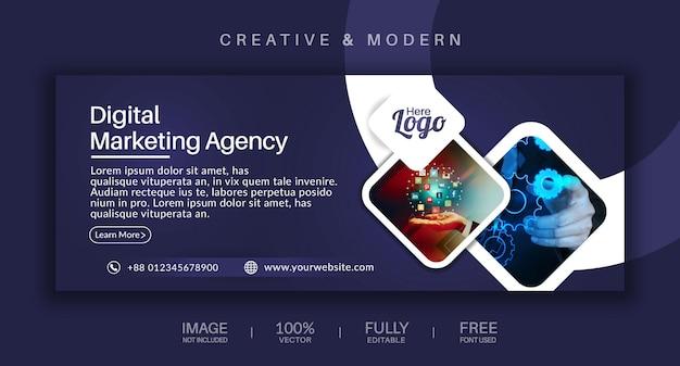 Copertina dei social media e modello vettoriale banner web Vettore Premium