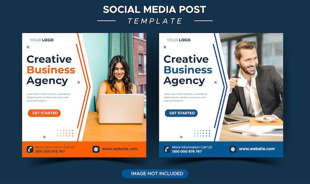 Modello di post instagram dell'agenzia di marketing aziendale digitale sui social media