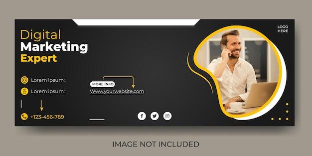 Modello di copertina aziendale per il marketing digitale sui social media