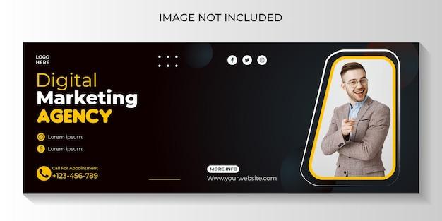 Modello di copertina facebook per social media marketing digitale