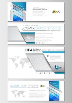 Set di intestazioni di social media e email, banner moderni.