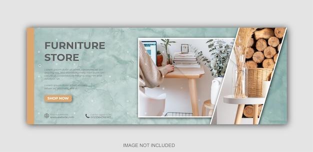 Mobili per social media per modello di copertina di facebook
