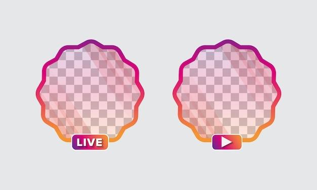 Set di avatar di icone social media premium