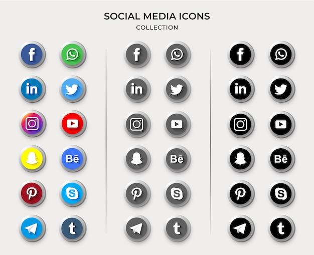 Collezione di icone dei social media