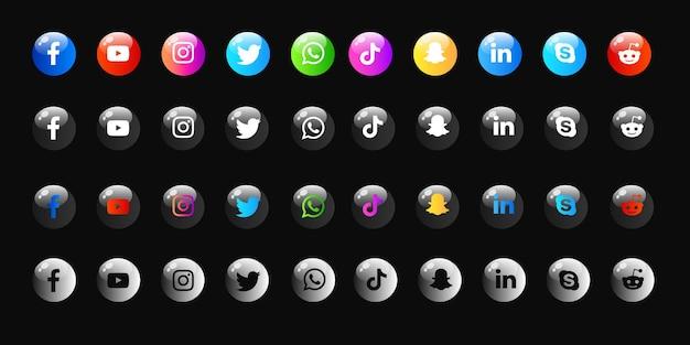 Pacchetto collezioni icone social media