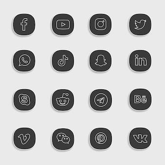 Pacchetto icone social media