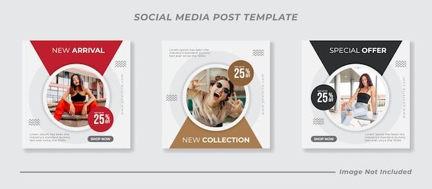 Social media instagram feed post vendita di moda