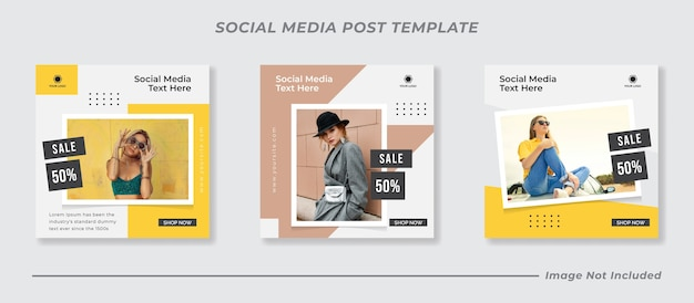 Social media instagram feed post vendita di moda