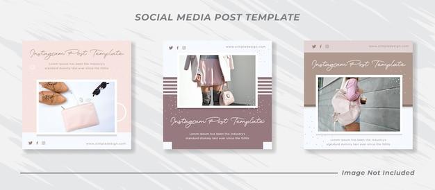Social media instagram feed post e storie set di modelli di banner di vendita di moda