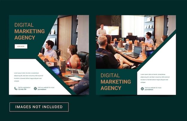 Social media instagram post template banner flyer promozione digital creative marketing agency