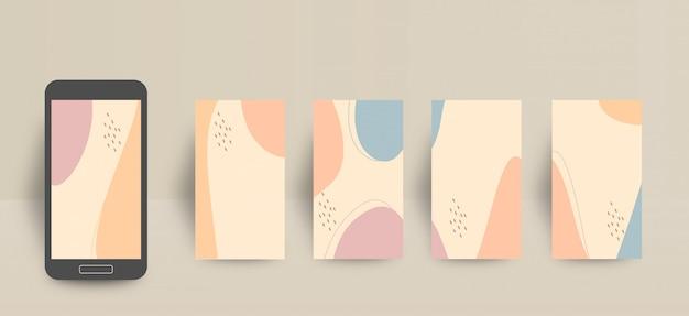 Modello di sfondo della storia di social media e instagram con graziosi colori pastello