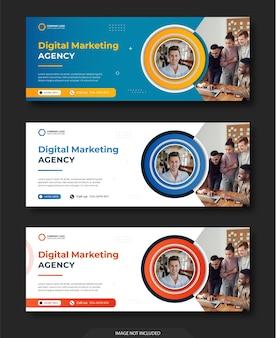 Social media e instagram e modello di post banner web