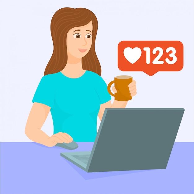 Social media come icona, facebook, instagram.