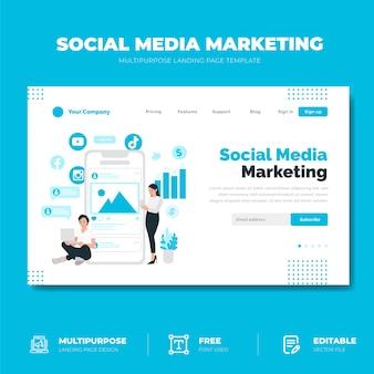 Pagina di destinazione del social media marketing