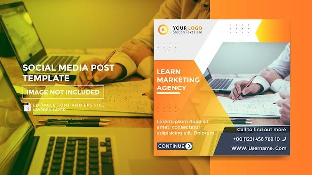 Modello di post di promozione del marketing sui social media