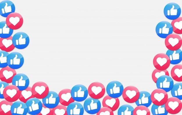 Icona delle notifiche sui social media. icona mi piace e cuore.