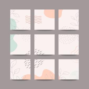 Sfondo di post sui social media in modalità puzzle a griglia con transizione senza interruzioni