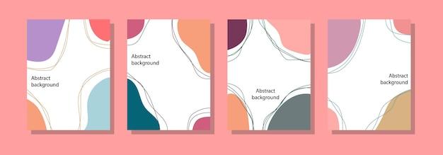 Modello di sfondo post sui social media, design astratto e colori pastello